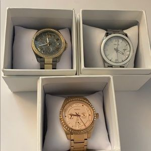3 gently used Fossil Watches, need new batteries
